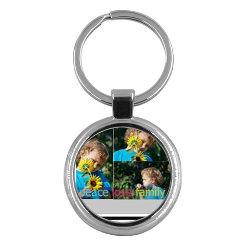 Merry Christmas By M Jan   Key Chain (round)   Rofvtsgj4xkl   Www Artscow Com Front