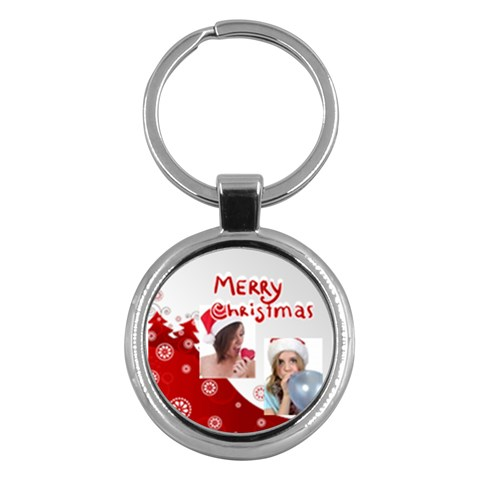 Merry Christmas By M Jan   Key Chain (round)   Tcgkvnd5jhc0   Www Artscow Com Front