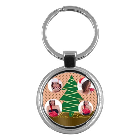 Merry Christmas By M Jan   Key Chain (round)   D0cbar0d00e0   Www Artscow Com Front