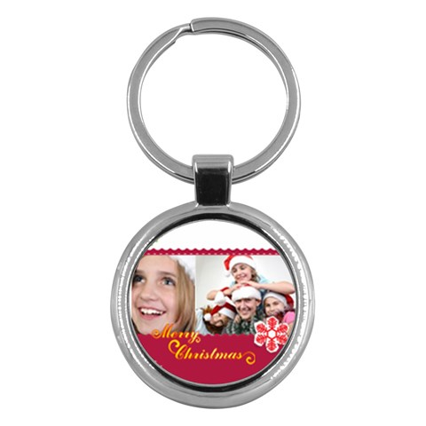 Merry Christmas By M Jan   Key Chain (round)   16s3oued8iwn   Www Artscow Com Front