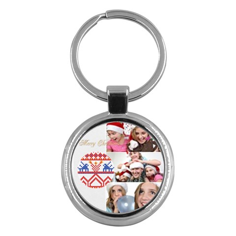 Merry Christmas By M Jan   Key Chain (round)   N6sjy7fd5g69   Www Artscow Com Front