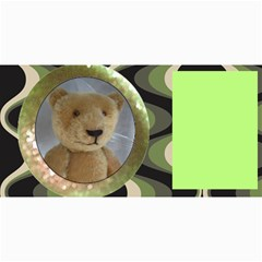 10 Cards With Old Teddy Bears ( With Modern /retro Backgrounds) By Riksu   4  X 8  Photo Cards   S38e5naoi8vq   Www Artscow Com 8 x4 Photo Card - 5