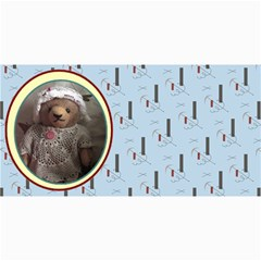 10 Cards With Old Teddy Bears ( With Modern /retro Backgrounds) By Riksu   4  X 8  Photo Cards   S38e5naoi8vq   Www Artscow Com 8 x4 Photo Card - 10
