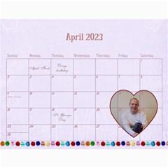 2015 Nannies Calendar By Claire Mcallen   Wall Calendar 11  X 8 5  (12 Months)   Ueg3g0iga2a4   Www Artscow Com Apr 2015