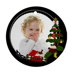Olivia Ornament By Claire Mcallen   Round Ornament (two Sides)   Ucq3sy2hcjz8   Www Artscow Com Front