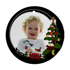 Olivia Ornament By Claire Mcallen   Round Ornament (two Sides)   Ucq3sy2hcjz8   Www Artscow Com Back