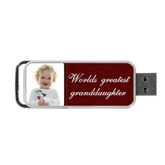 Grandaughter By Claire Mcallen   Portable Usb Flash (two Sides)   Xjpzlefjpkzm   Www Artscow Com Back