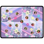 Flowers and Stripes XL Blanket - Fleece Blanket (Large)