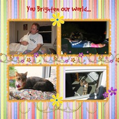 Pets And Family By Kathy   Scrapbook Page 12  X 12    6cqzmmfu178n   Www Artscow Com 12 x12 Scrapbook Page - 2