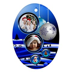 Christmas By Joanne5   Oval Ornament (two Sides)   Zj5132nsh600   Www Artscow Com Front