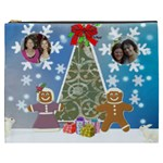 Gingerbread Couple with tree Cosmetic bag (XXXL)