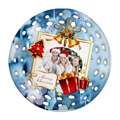 Christmas By Joanne5   Round Filigree Ornament (two Sides)   7wfi85p7puq2   Www Artscow Com Front