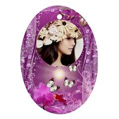 Pretty  Purple By Joanne5   Oval Ornament (two Sides)   4auzjnra4kso   Www Artscow Com Back