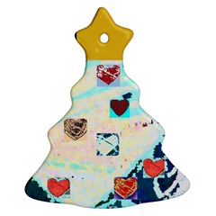 Christmas Tree With  Hearts ( Your Photo , Text) By Riksu   Christmas Tree Ornament (two Sides)   8xlngdn9r74o   Www Artscow Com Back