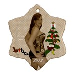 Claire christmas ornament - Snowflake Ornament (Two Sides)