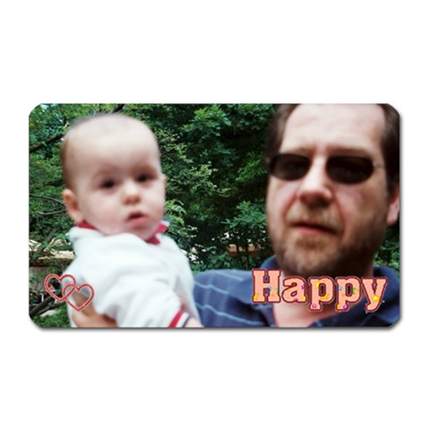 Jimi And Papa By Maryanne   Magnet (rectangular)   Tpystz5wbl7c   Www Artscow Com Front