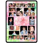 Pink Flower Grandchildren XL Blanket - Fleece Blanket (Large)