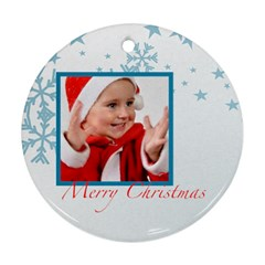 Merry Christmas By Man   Round Ornament (two Sides)   Pnb3plvshpp6   Www Artscow Com Front