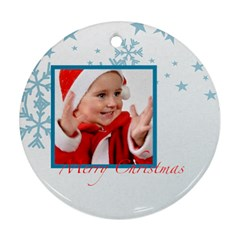 Merry Christmas By Man   Round Ornament (two Sides)   Pnb3plvshpp6   Www Artscow Com Back