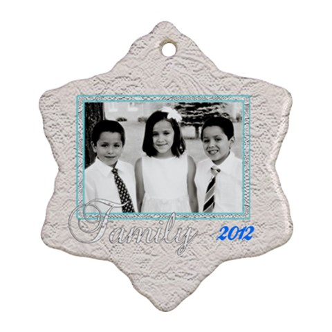 Family Ornament  By Patricia W   Ornament (snowflake)   5etemonl2498   Www Artscow Com Front