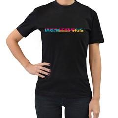 Design+unique+style Black Womens'' T Shirt
