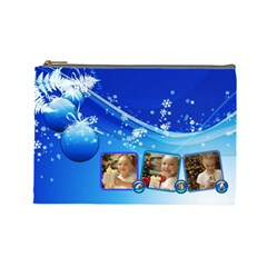 Christmas By Joanne5   Cosmetic Bag (large)   0wvj22xi7z6o   Www Artscow Com Front