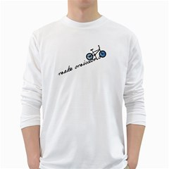 Tees Make Omissions White Long Sleeve Man''s T-shirt by uTees