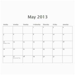 Christmas Calendar By Katie Almquist   Wall Calendar 11  X 8 5  (12 Months)   Np96w9lyhg1t   Www Artscow Com May 2013