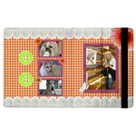 Orange Frill Apple iPad 3 Flip Case - Apple iPad 3/4 Flip Case