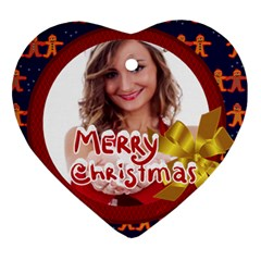 Merry Christmas By Clince   Heart Ornament (two Sides)   Stgnayq7xzy6   Www Artscow Com Front