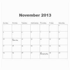 2013 Calendar By J  Richardson   Wall Calendar 11  X 8 5  (12 Months)   8whyloeb90xl   Www Artscow Com Nov 2013