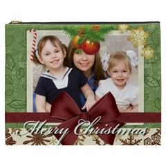 Merry Christmas By Joely   Cosmetic Bag (xxxl)   Fhxy7wj6pgda   Www Artscow Com Front