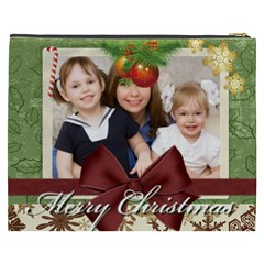 Merry Christmas By Joely   Cosmetic Bag (xxxl)   Fhxy7wj6pgda   Www Artscow Com Back
