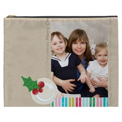 Merry Christmas By Joely   Cosmetic Bag (xxxl)   Sd0g0gj15fu5   Www Artscow Com Front