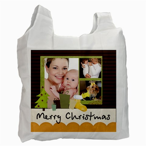 Christmas By Jo Jo   Recycle Bag (one Side)   Na22tk3sxkux   Www Artscow Com Front