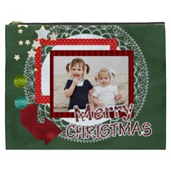 Merry Christmas By Joely   Cosmetic Bag (xxxl)   Num5qroytvcu   Www Artscow Com Front