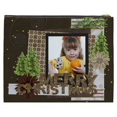 Merry Christmas By Joely   Cosmetic Bag (xxxl)   6c45r1vgetj0   Www Artscow Com Back