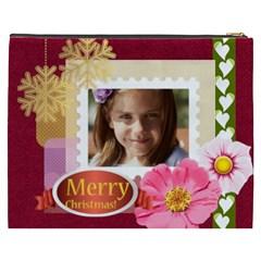 Merry Christmas By Joely   Cosmetic Bag (xxxl)   8rao7r77wu0r   Www Artscow Com Back