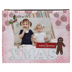 Merry Christmas By Joely   Cosmetic Bag (xxxl)   D9msa79zn0v6   Www Artscow Com Front