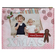 Merry Christmas By Joely   Cosmetic Bag (xxxl)   D9msa79zn0v6   Www Artscow Com Back