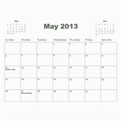 2013 Calendar By J  Richardson   Wall Calendar 11  X 8 5  (12 Months)   Hj1l7y50vf63   Www Artscow Com May 2013