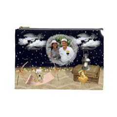 Night On The Beach Cosmetic Bag (large) By Kim Blair   Cosmetic Bag (large)   Pt8k97r5eyy8   Www Artscow Com Front