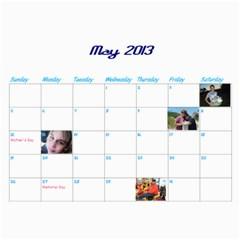 Calendar By Lisa   Wall Calendar 11  X 8 5  (12 Months)   4xhsqy715pbm   Www Artscow Com May 2013