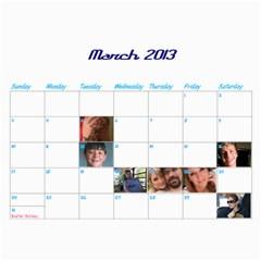 Calendar By Lisa   Wall Calendar 11  X 8 5  (12 Months)   4xhsqy715pbm   Www Artscow Com Mar 2013