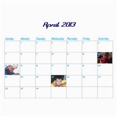 Calendar By Lisa   Wall Calendar 11  X 8 5  (12 Months)   4xhsqy715pbm   Www Artscow Com Apr 2013