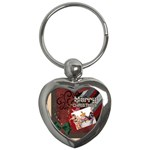 merry christmas - Key Chain (Heart)