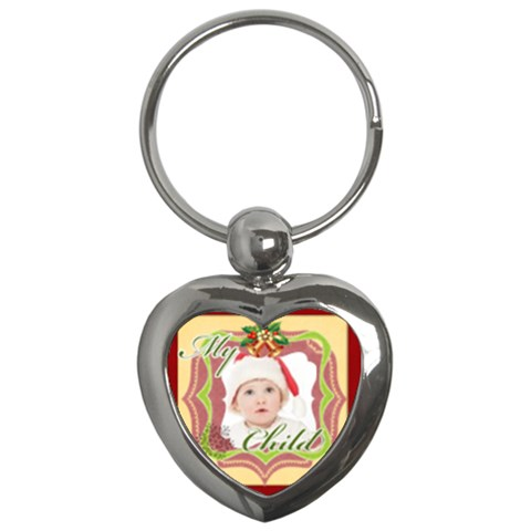 Merry Christmas By Betty   Key Chain (heart)   Yzfttx1btsm9   Www Artscow Com Front