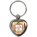 merry christmas - Key Chain (Heart)