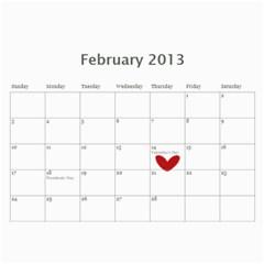 Crazy Grandma 2013 By Angeline Petrillo   Wall Calendar 11  X 8 5  (12 Months)   Een3v95pw09w   Www Artscow Com Feb 2013