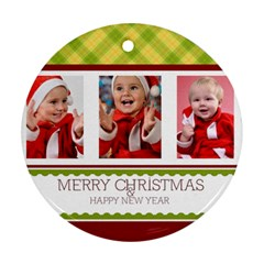 Merry Christmas By Man   Round Ornament (two Sides)   R1p8jn072gjh   Www Artscow Com Back